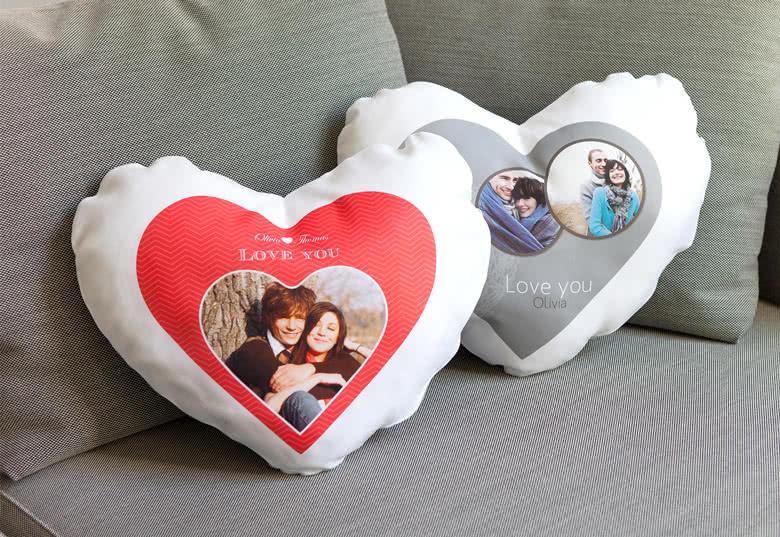 Herzkissen mit Foto erstellen