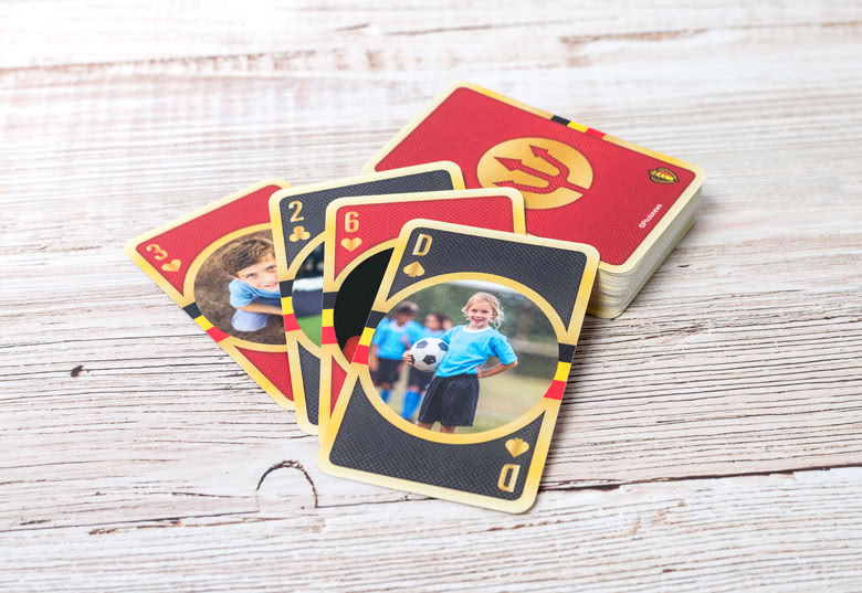 Maak Belgian Red Devils-speelkaarten