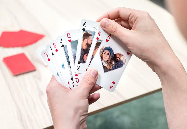 jeux de carte personnalisé Jeu de cartes classique personnalisé avec photos