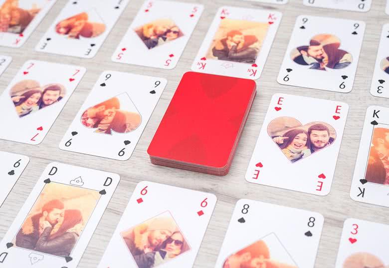 Spelkort med egna foton