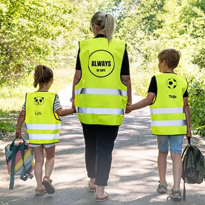 Gepersonaliseerd veiligheidsvest kinderen 10 tot 12 jaar