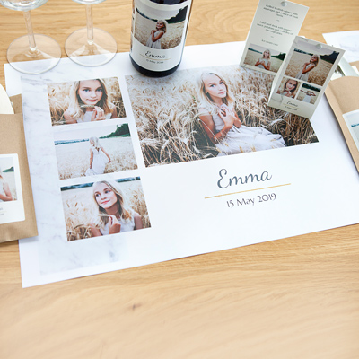 Create a Set of Placemats with photo