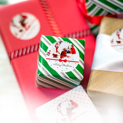 Create Gift wrapping stickers