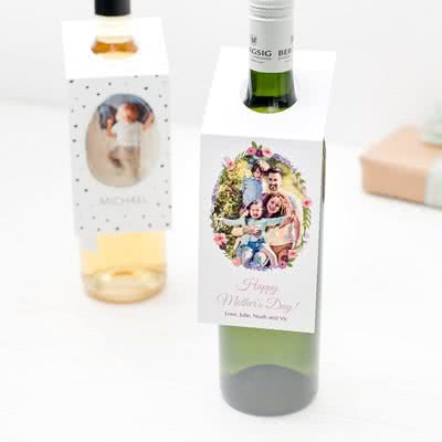 Presenttag för flaska