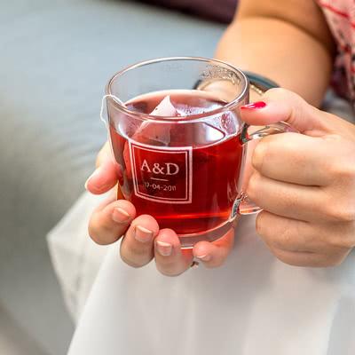 Créez votre verre à thé gravé