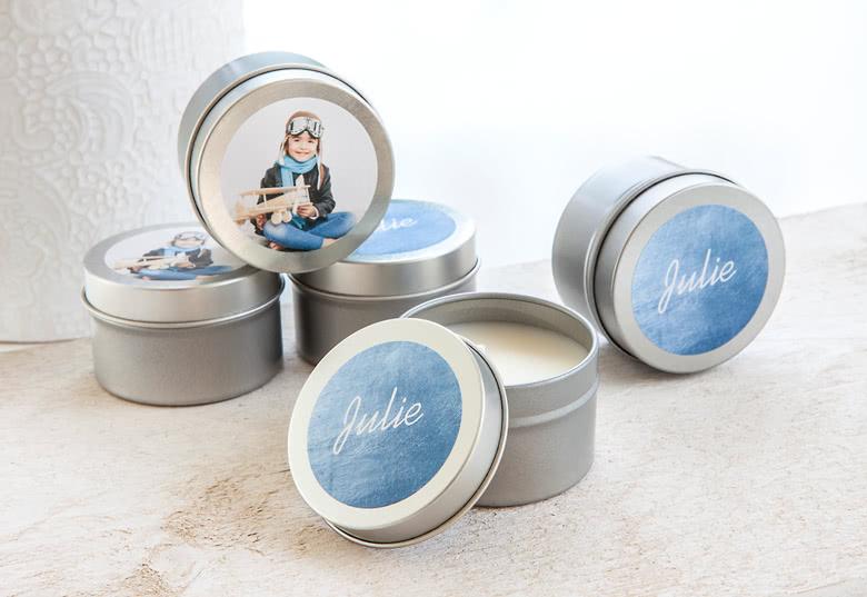 Bougies avec stickers