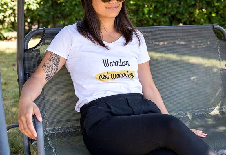 T shirt til damer med eget billede