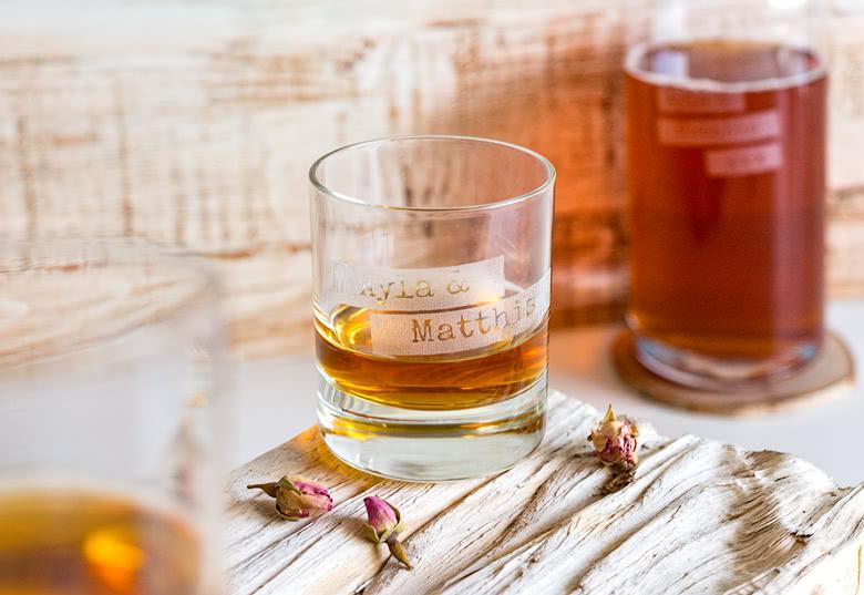 Je crée mon verre à whisky gravé