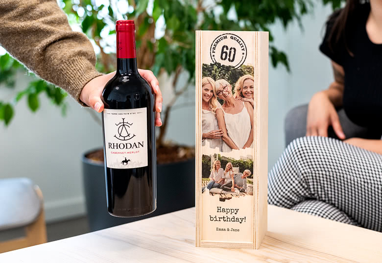 Coffret à vin en bois