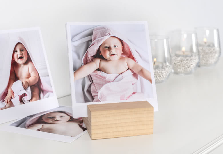 Porte-photo design en bois