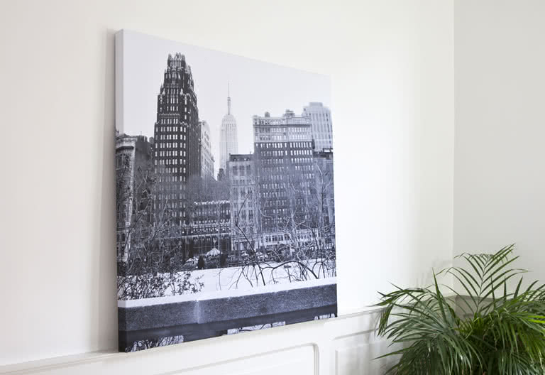 Create a Canvas to mount on your walls