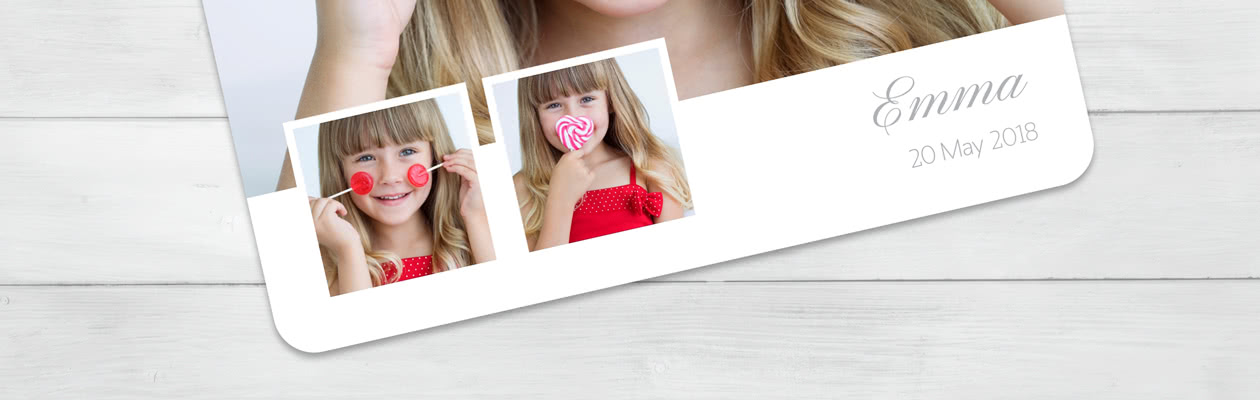 Gestalte deine Foto-Grusskarte mit abgerundeten Ecken