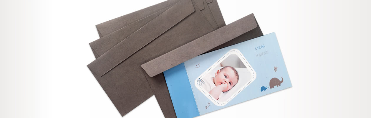 Handmade paper envelope to send your Single Card Panoramic in even more luxury