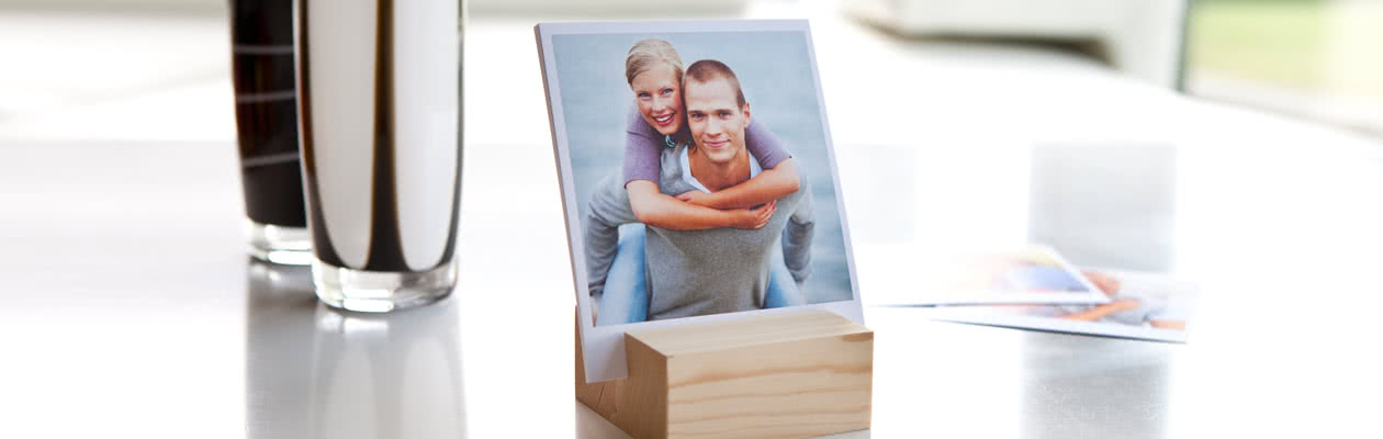 Show off your Luxury Photo Prints by putting them in a Wooden Photo Stand