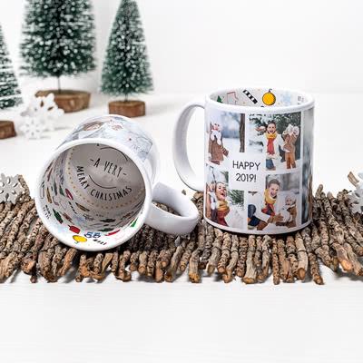 Tasse mit Weihnachtsmotiven