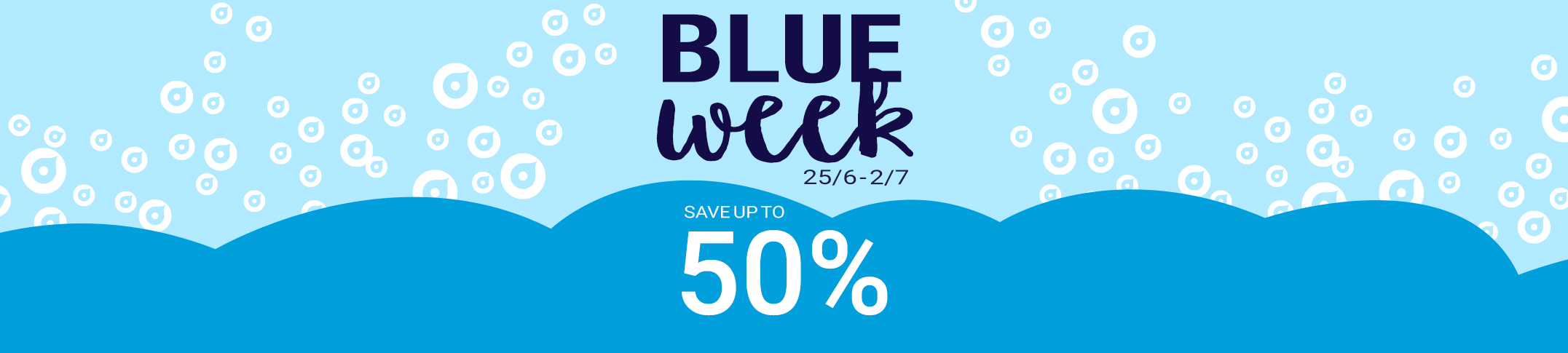 Blue Week - don't miss our super sale!