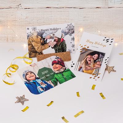 Personnalisé Noël Photo Brillant Autocollants Pour Fete Cadeaux cartes parties
