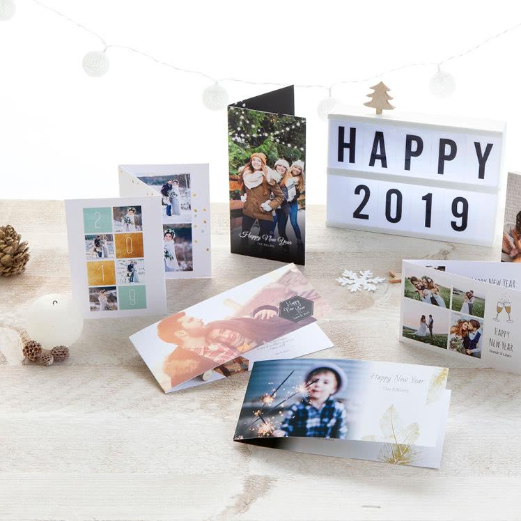 Nieuwjaarskaarten met foto's