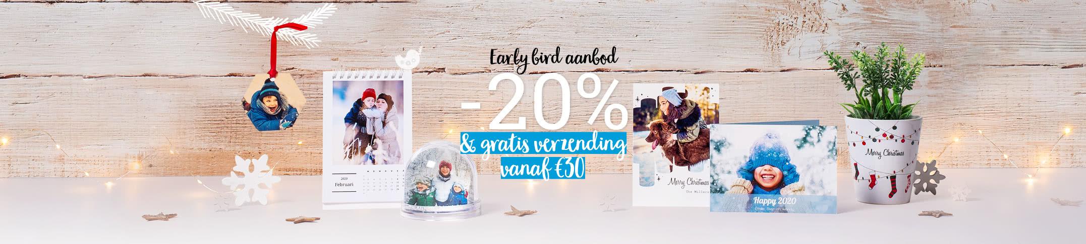 Geniet van onze earlybird promotie voor kerst!