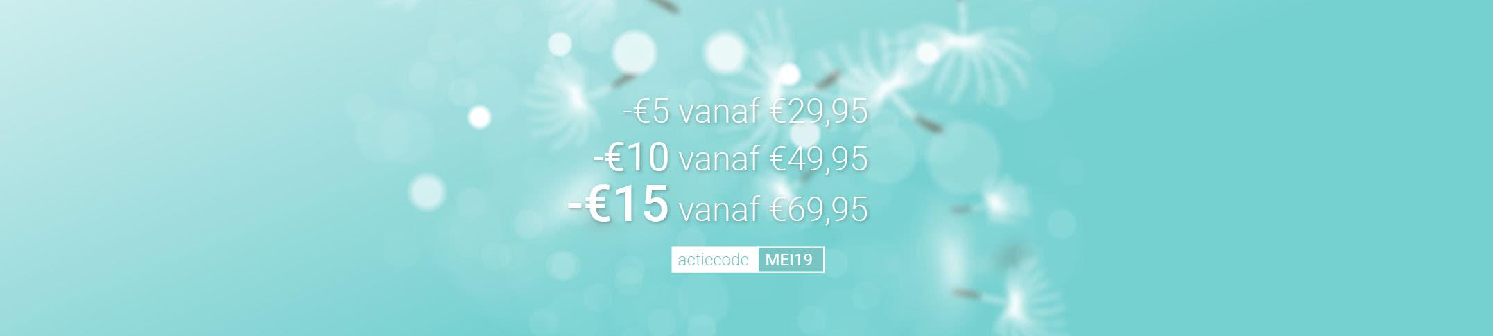Tot €15 korting op jouw bestelling