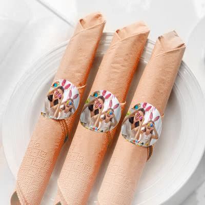 étiquettes ronds de serviette pâques