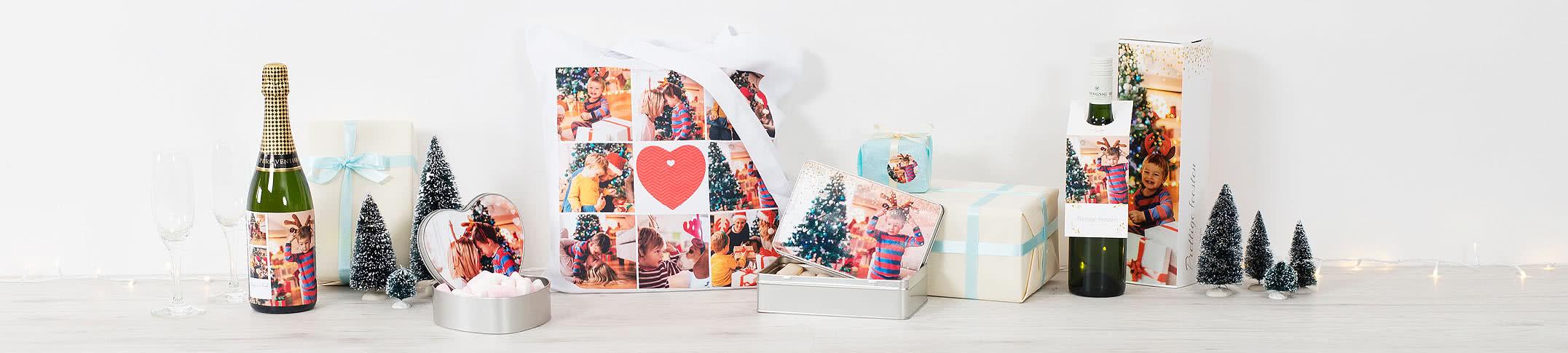 emballage cadeau de Noël personnalisé